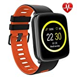 Willful Smart Watch for iPhone & Android Phones, SW018 Smartwatch Fitness Tracker Heart Rate Monitor Watch,Sleep Monitor Pedometer Watch for Men Women Red (IP68 Waterproof,3M Diving)