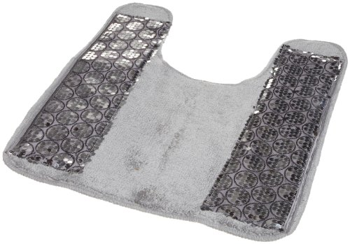Popular Bath ''Sinatra Silver'' Contour Rug by Popular Bath