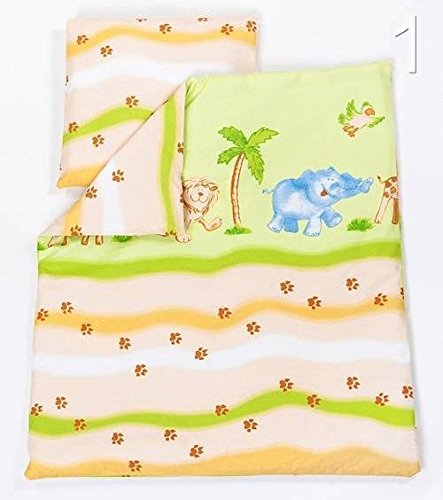2 Pcs Crib/Cradle/Pram Bedding Set - 70x80cm Duvet Cover & Pillowcase - Pattern 1 Baby Comfort