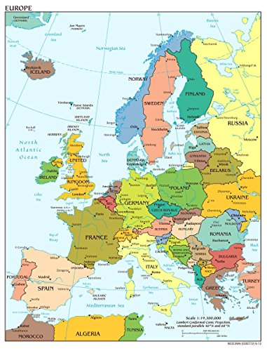 (Gifts Delight Laminated 24x31 Poster: Political Map - Map of Europe 2012 Thefreebiedepot)