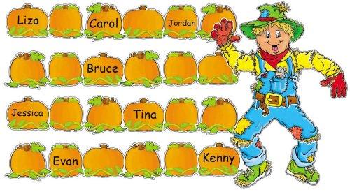 Scarecrow and Pumpkins Bulletin -