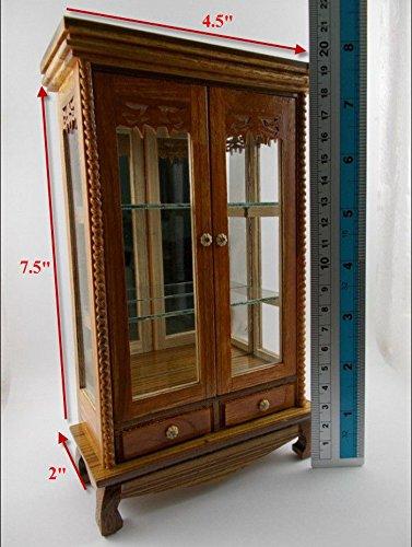 Small Vintage Teak Wood Cabinet Craft Handmade Carved Cupboard Furniture by Mystyleshop (Image #6)
