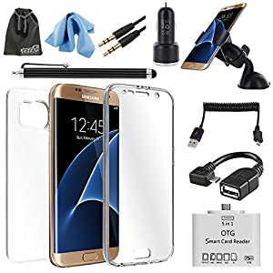eeekit 7 in 1 starter kit for samsung galaxy s7 edge silicon soft tpu clear full. Black Bedroom Furniture Sets. Home Design Ideas
