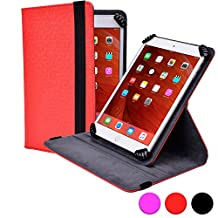 Kobo Arc 10 HD folio case, COOPER INFINITE S360 Business School Travel Carrying Portfolio Case Protective Cover Folio with Built-in 360 Rotating Stand for Kobo Arc 10 HD (Red)