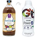 Power4 100% Goji, Acai, Noni & Mangosteen Berry Juice Supplement ~ All 4 Power JUICES in 1 ~ by Genesis Today - 32oz Bottle