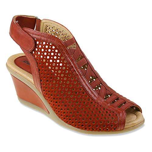Earth Women's Red Sandal Dress Calla pRqUp