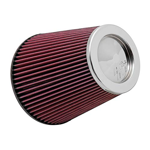 K&N RF-1045 Universal Clamp-On Air Filter: Round Tapered; 3.5 in (89 mm) Flange ID; 8 in (203 mm) Height; 5.5 in (140 mm) Base; 4 in (102 mm) Top