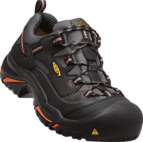 KEEN Utility - Men's Braddock Low (Steel Toe) Work Shoes, Black/Bossa Nova, 13 EE