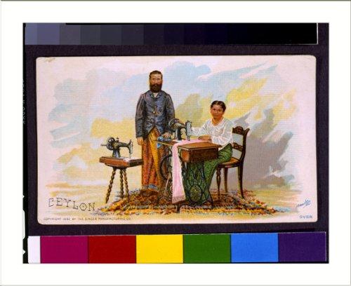 Historic Print L: Ceylon / J. Ottmann Lith. Co., N.Y