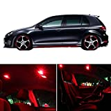 vw parts gti - CCIYU 15 Pack Red LED Package Kit LED Interior Lights Accessories Replacement Parts for 2013-2017 VW Volkswagen GTI