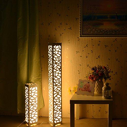 1.2 Meters LED Floor Lamp Creative Hollow Carved Bedside Lamp 3 Styles Optional Living Room Bedroom Lighting Decorative Floor Lamp ( Color : C-warm light ) (Single Floor Shade Lamp)