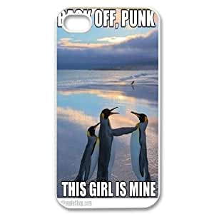 [Cute Penguin] Funny Penguins This Girl is Mine For HTC One M7 Case Cover {White}