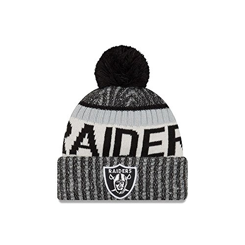 Oakland Raiders New Era 2017 On-Field Sport Knit Beanie Hat / Cap