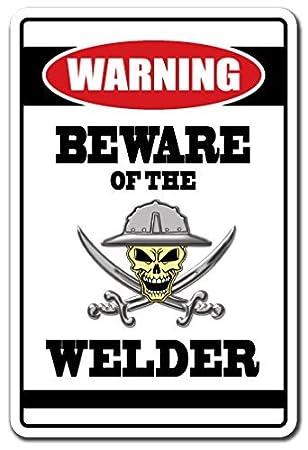 Funny Sign regalo latón de acero de regalo de cuidado de la señal de advertencia de
