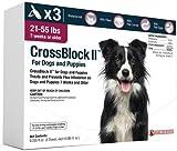 CrossBlock II Flea Preventative for Dogs 21-55 Lbs. (3-Pack)