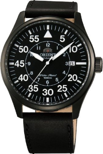Orient #FER2A001B Men's Flight Collection Leather Band Pilot Automatic - 21 Jewel Automatic