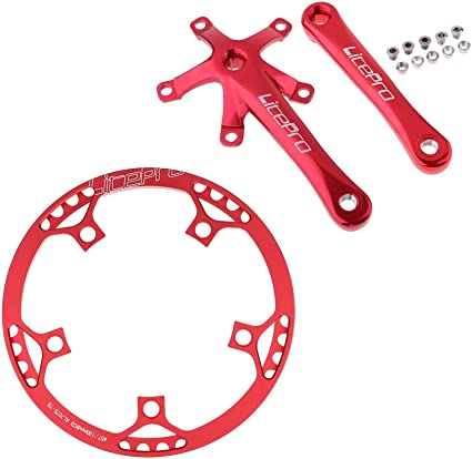 Crankset Set CNC Narrow Wide Chainwheel BCD 130mm 45T 47T 53T 56T 58T Chain Ring Replacement Fenteer Mountain Bike Single Speed Chainring