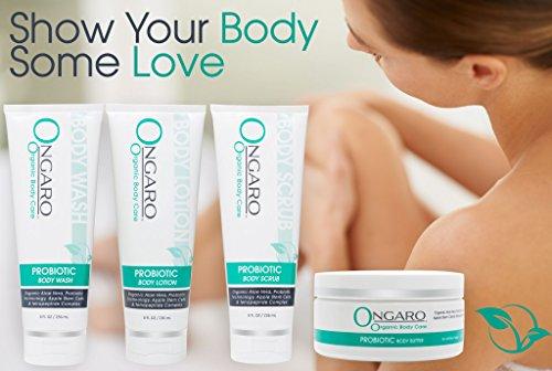 513j6e5htnL - Probiotic Body Lotion; Moisturizes and Hydrates Dry Skin; Best Anti-Aging Formula with Chamomile, Shea Butter, Organic Aloe Vera & Vitamins C & E | 8oz