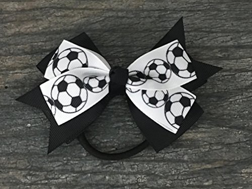 (Soccer Hair Accessories, Soccer Hair Bows, Soccer Bow for Girls, Soccer Gift)