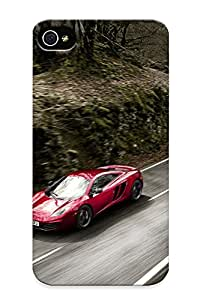 Case For Iphone 4/4s Tpu Phone Case Cover(mclaren Red Volcano Mp412c ) For Thanksgiving Day's Gift