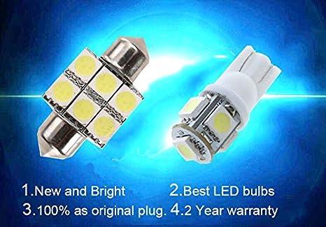 Amazon.com: For Hyundai Elantra Led Interior Lights Led Interior Car Lights Bulbs Kit White 6Pcs 2011-2018: Automotive