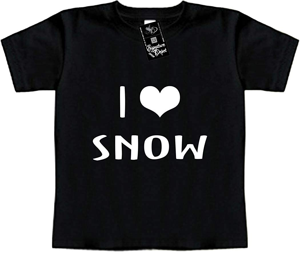 I Love Toddler Tee Funny Baby T-Shirt Snow Winter Heart