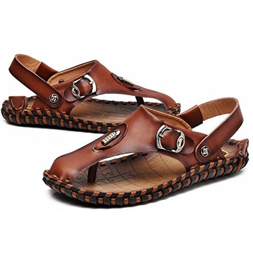 Pinuo 2016 Hombres Afluencia De Verano De Moda Masculina Zapatillas De Deporte Sandalias Sandalias De Playa Al Aire Libre Marrón
