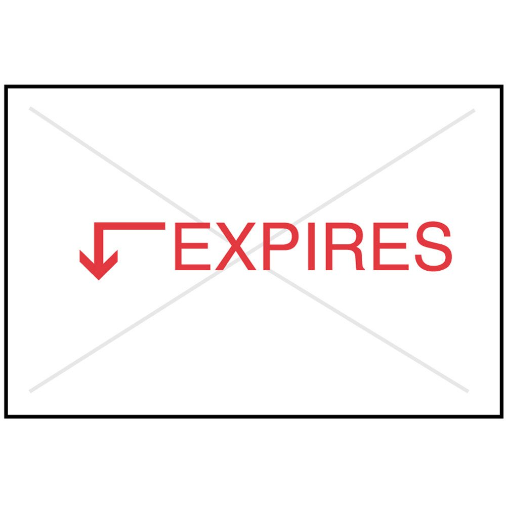 PDC Healthcare SCSE Label Compatible with Garvey and CS-2 Guns Paper, Permanent, Expires, 15/16'' x 5/8'', White (Pack of 21000)