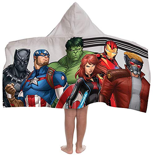Jay Franco Marvel Avengers Hooded Bath/Pool/Beach Towel, Gray]()