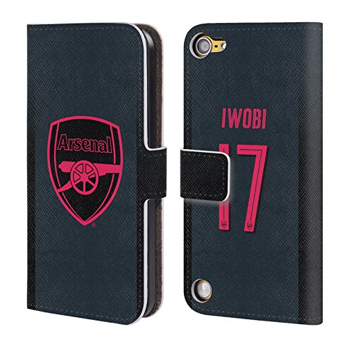 Official Arsenal FC Alex Iwobi 2017/18 Players Third Kit Group 1 Leather Book Wallet Case Cover For iPod Touch 5th Gen / 6th Gen