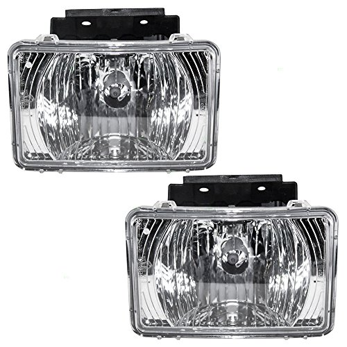 Pair of Fog Lights Lamps Replacement for Chevrolet GMC Isuzu Pickup Truck 15898306