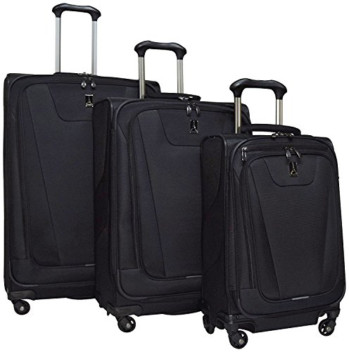 Travelpro Maxlite 4 3 Piece Set: Expandable 29'' Spinner, Expandable 25'' Spinner and Expandable Carry-on Spinner, Black by Travelpro