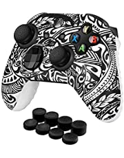 TNP Controller Cover Skin Case with Thumb Grips (Tribal) Fit for Xbox Series X S & X-Box One XS Gamepad - Soft Studded Anti-Slip Silicone Rubber Gel Stick Cap Control Accessories Video Game Gaming