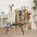 AISHN Elevated Dog Bowls Iron Stand Raised Pet
