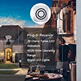 Adust Motion Sensor Alarm, Wireless Driveway Alarm, Home Security Business Detect Alert with 4 Sensor and 2 Receiver,38 Chime Tunes - LED Indicators