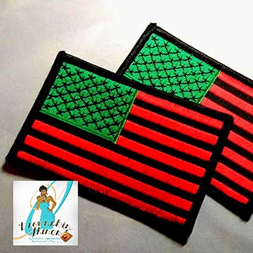American Flag in RBG Colors Patch 3x2 inches - Iron On - Embroidery 513j9Th2URL