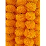 Decoration-Craft-Pack-of-5-Artificial-Light-Orange-Marigold-Flower-Garlands-5-Feet-Long-for-Parties-Indian-Weddings-Indian-Theme-Decorations-Home-Decoration-Photo-Prop-Diwali-Indian-Festival