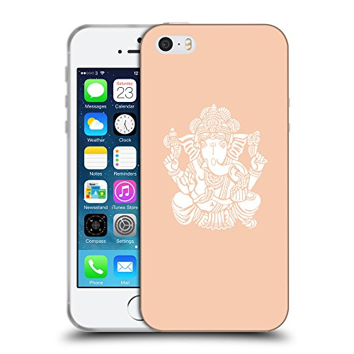 GoGoMobile Coque de Protection TPU Silicone Case pour // Q09580604 Hindou 12 Abricot // Apple iPhone 5 5S 5G SE