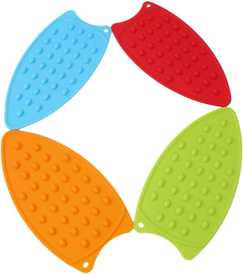Rouge Sevenfly Repose-Pieds en Silicone Polyvalent pour Tapis r/ésistant /à la Chaleur pour Planche /à Repasser Coussin de Repos en Silicone r/ésistant /à la Chaleur