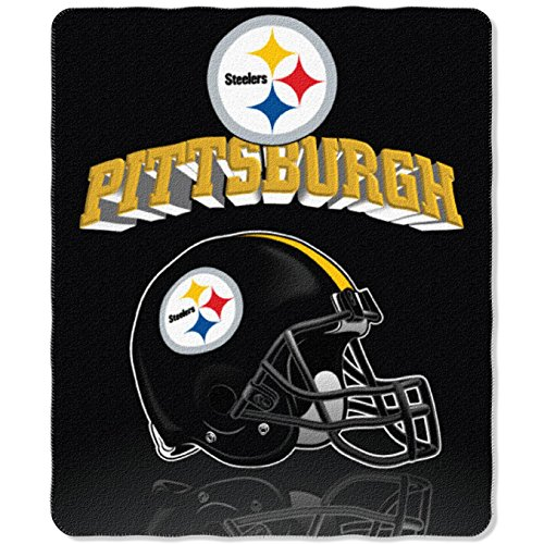 (NFL Pittsburgh Steelers Gridiron Fleece Throw, 50-inches x 60-inches)