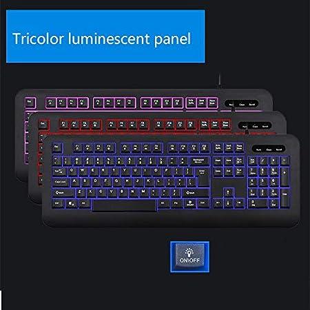 ZHBWJSH Wired Keyboard Laptop Computers Color : C Desktop Computers Home Office Business USB Mute Waterproof Keyboard