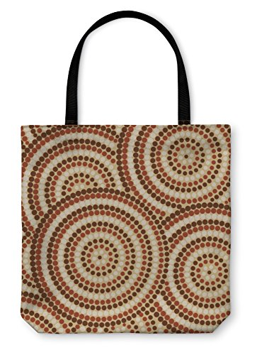 Gear New Shoulder Tote Hand Bag, Abstract Aboriginal Dot Painting In Format, 18x18, 27414GN Aboriginal Dreamtime Paintings