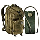 Tactical Backpack - Small Tactical Bug Out Bag Backpack -2.5 Liter Hydration Water Bladder System Included by Monkey Paks