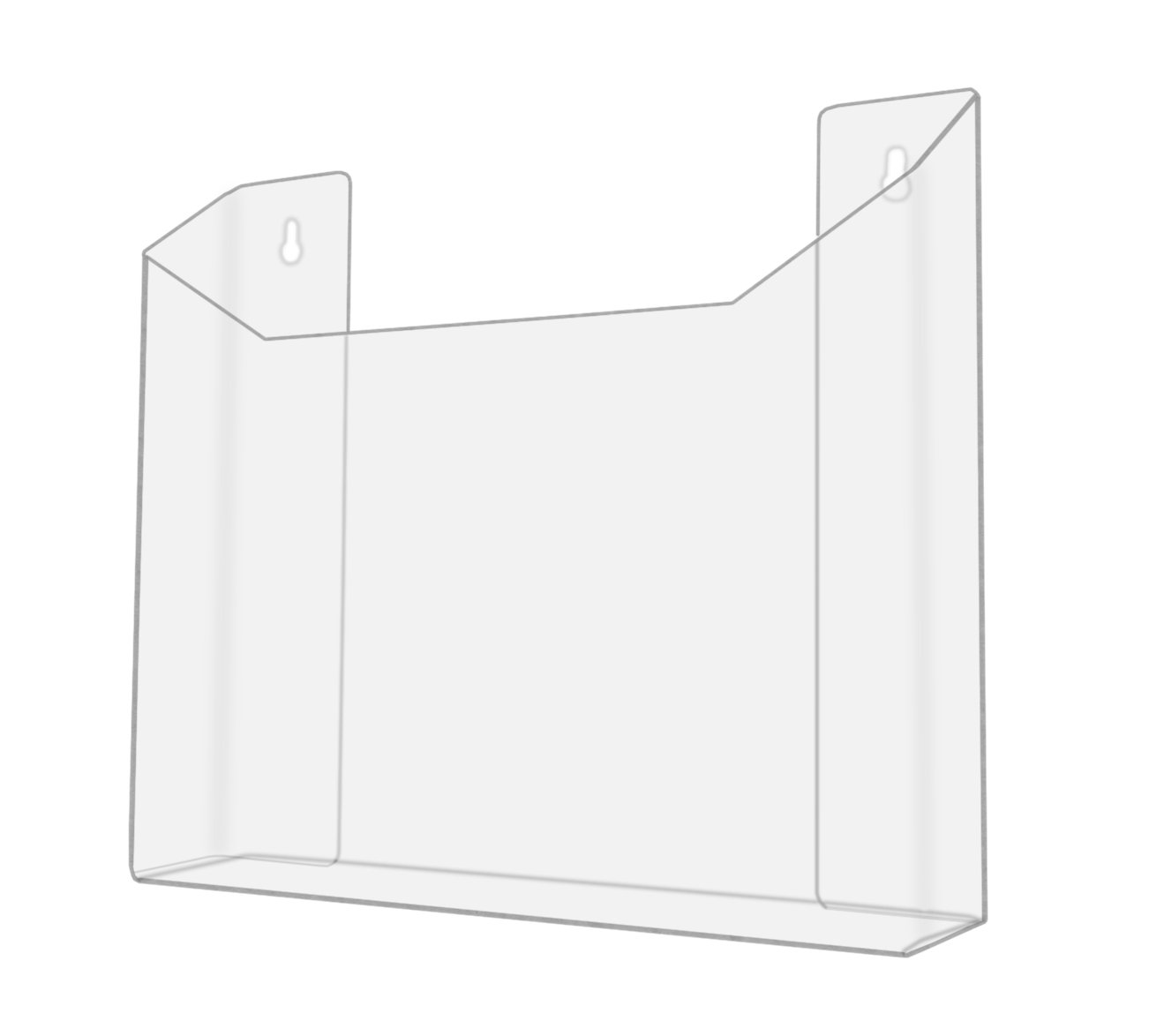 """Marketing Holders Clear Acrylic Wall Mount Newspaper Rack for Newspapers and 13-1/2""""W Literature (Pack of 12) by Marketing Holders (Image #2)"""