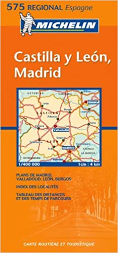 Madrid Map Of Spain.Michelin Map 575 Regional Spain Castilla Y Leon Madrid Amazon Co