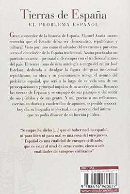 Tierras de España: El problema español Literatura Reino de Cordelia: Amazon.es: Azaña [Díaz], Manuel, Esteban Gonzalo, José: Libros