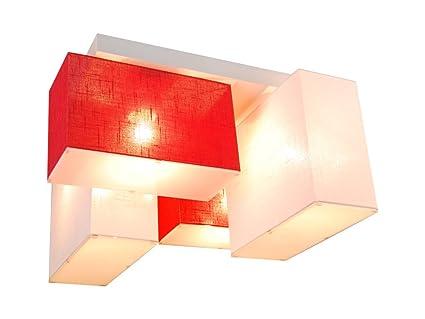 Lámpara de techo con paneles blejl s44wed de madera maciza/Casa ...
