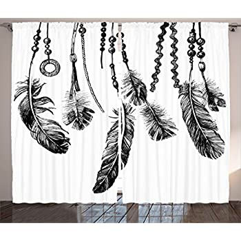 Amazon Com Ambesonne Tribal Curtains Historical Native