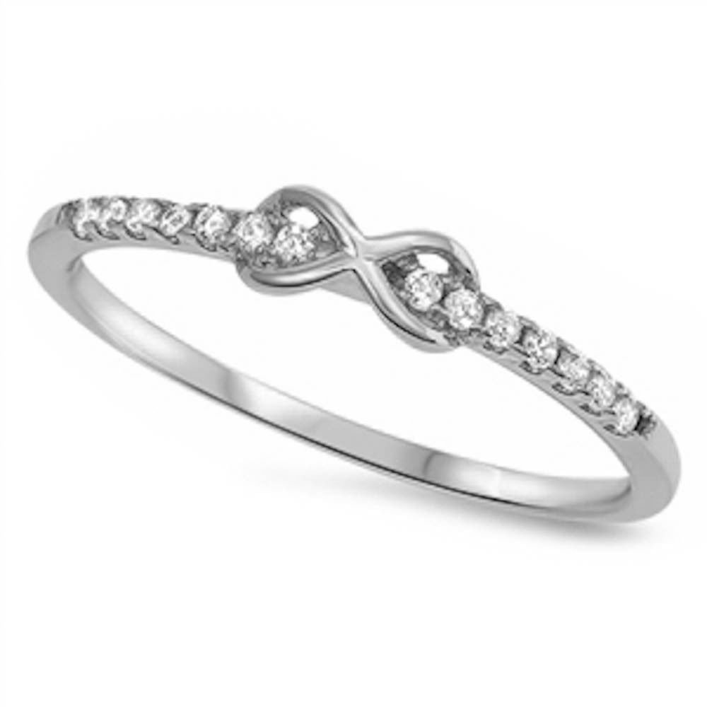 Sterling Silver Cz Infinity Promise Ring Size 3