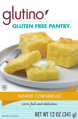 Wheat Free Mix Bread (Glutino Gluten Free Pantry Yankee Cornbread Mix, 12-Ounce Boxes (Pack of 6))